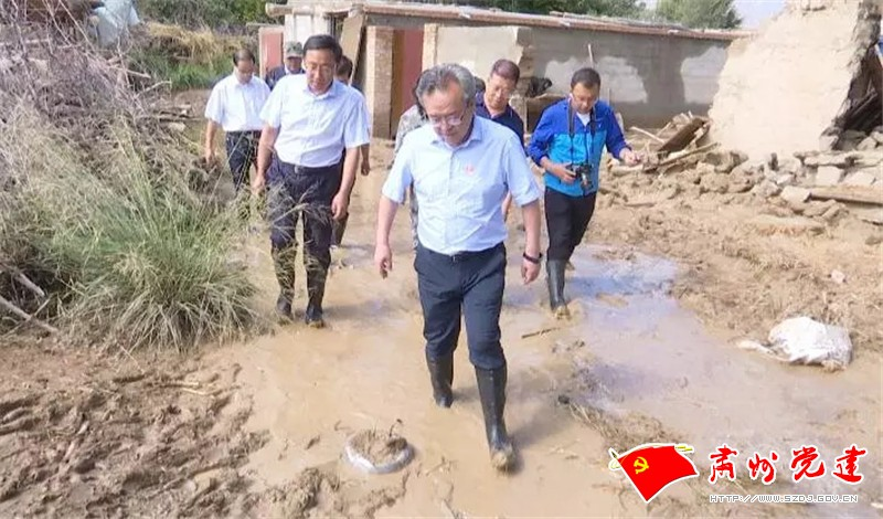 吴仰东在肃州区查看指导防汛减灾和抢险救灾工作